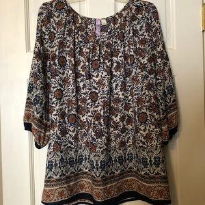 Women's Alya Blouse Size Large—3/4 Sleeves